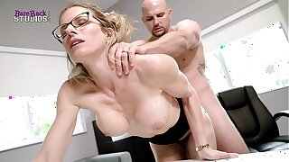 Hot Blonde Milf with Big Tits Must Fuck Her Boss to Keep her Job - Cory Chase